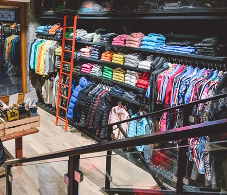 Interior of the Cortina Pro Sport store