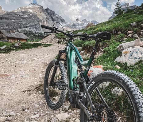 Particolare di una bici noleggiata da Cortina pro Sport.