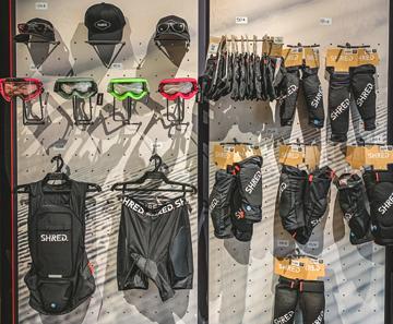 Clothing on display at Cortina Pro Sport