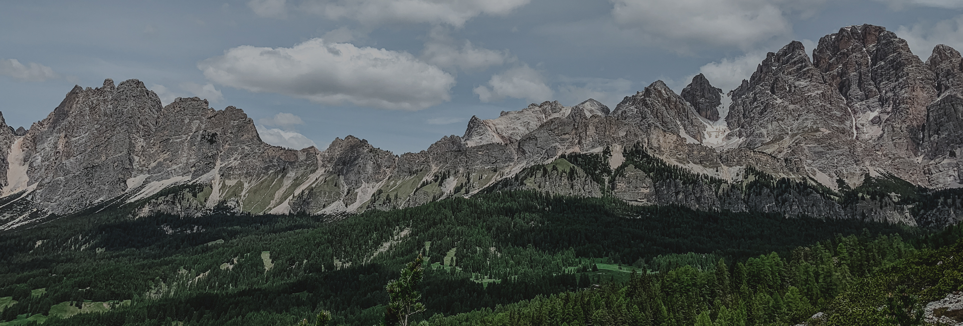 Panoramic view of the mountains of Cortina d'Ampezzo